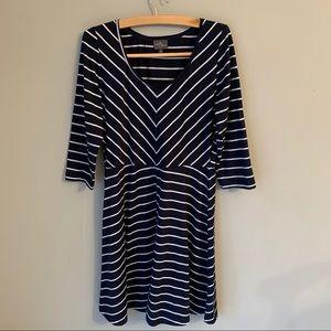 Market and Spruce Spencer 3/4 sleeve blue dress L